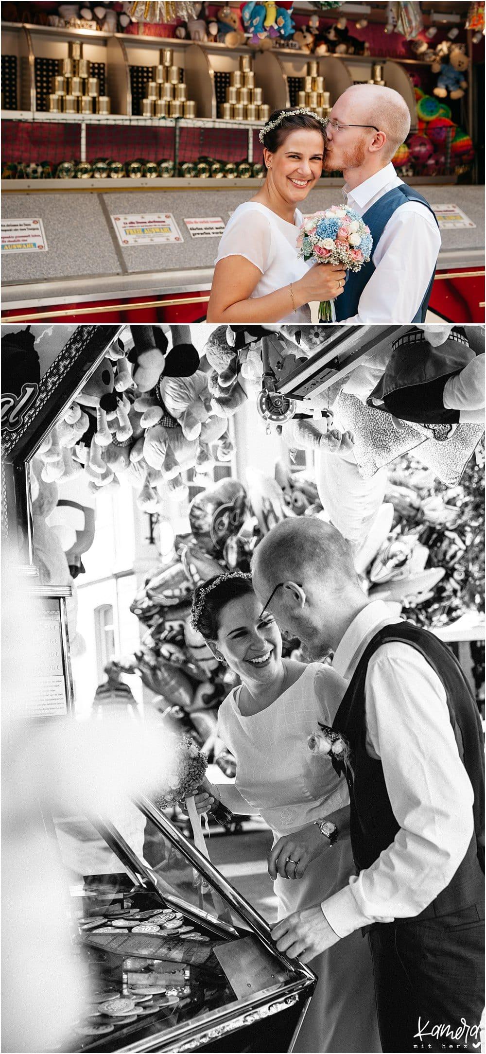 Hochzeitsfotos am Schloss Brühl und Trauung am Standesamt