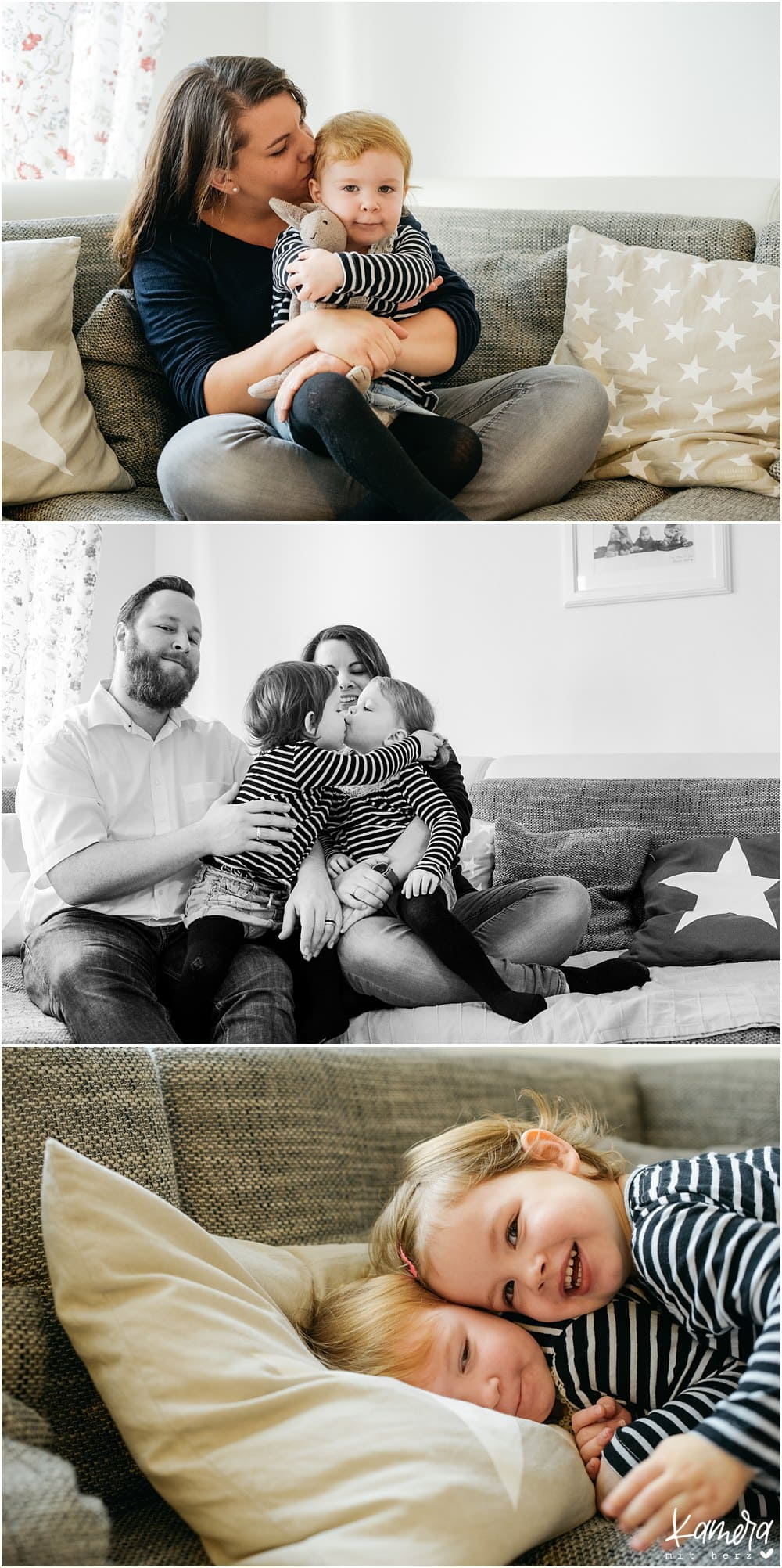 moderne Familienfotos zuhause