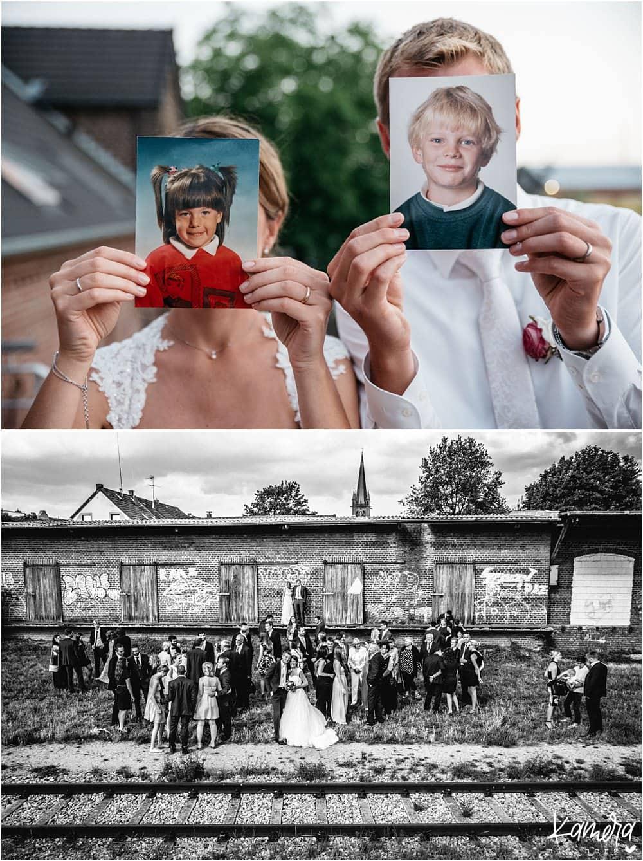 Außergewöhnliche Gruppenfotos Hochzeit