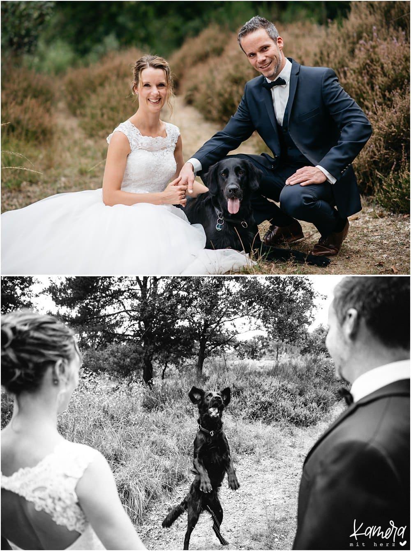 Hochzeitsfotos mit Hund Wahner Heide