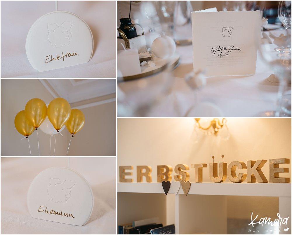 Hochzeit Dekoration Gold