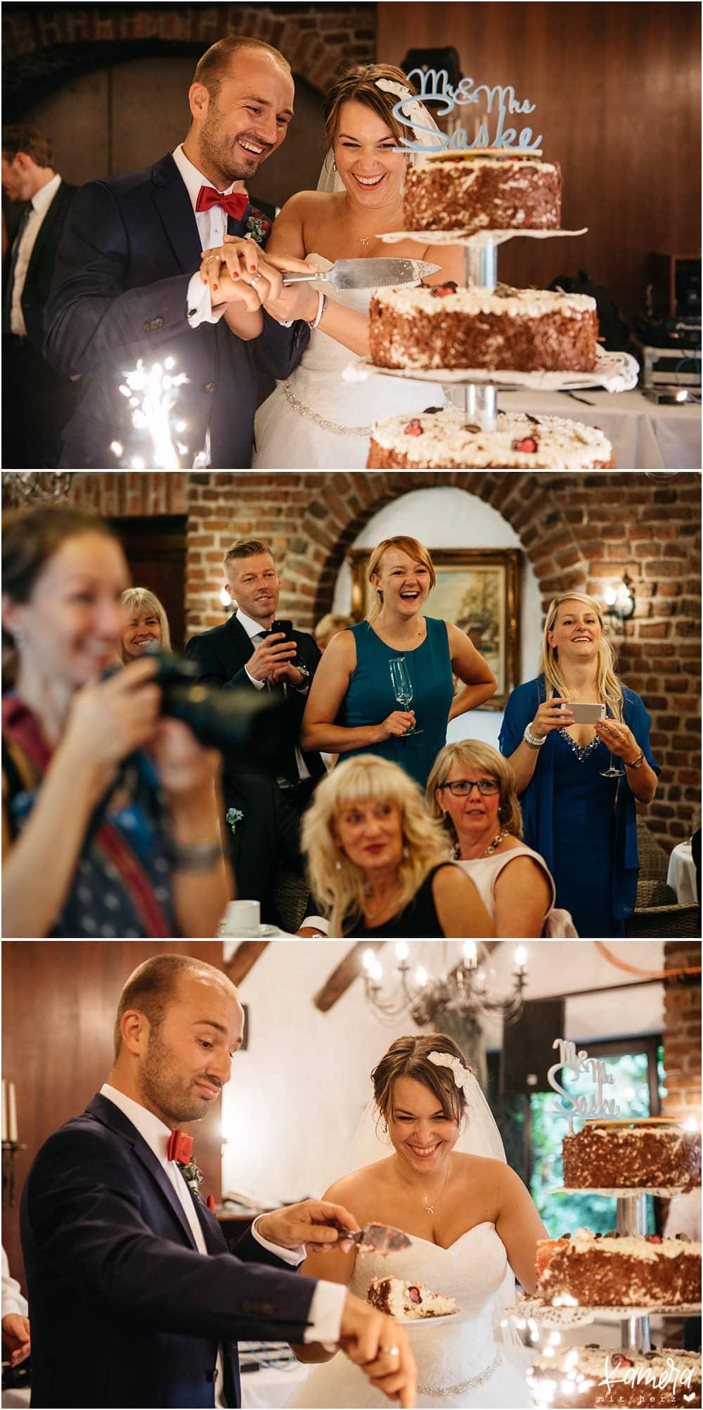 Tortenanschnitt Hochzeitstorte