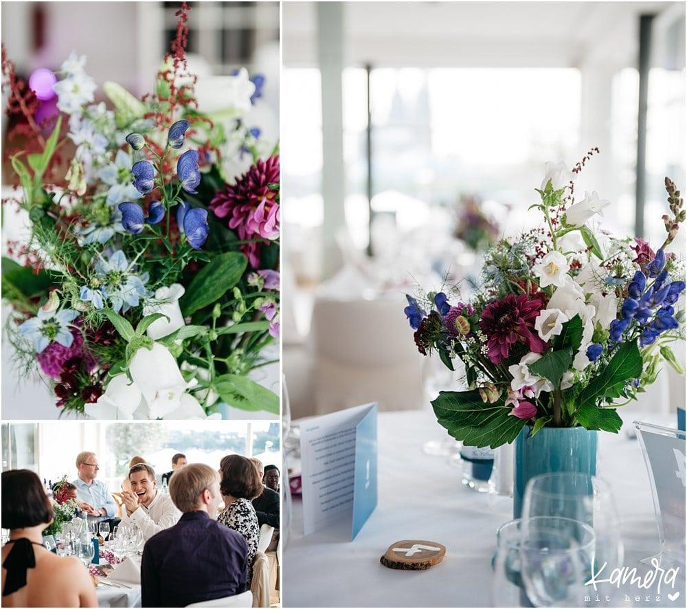 Tischdekoration Hochzeit Rheinterrassen