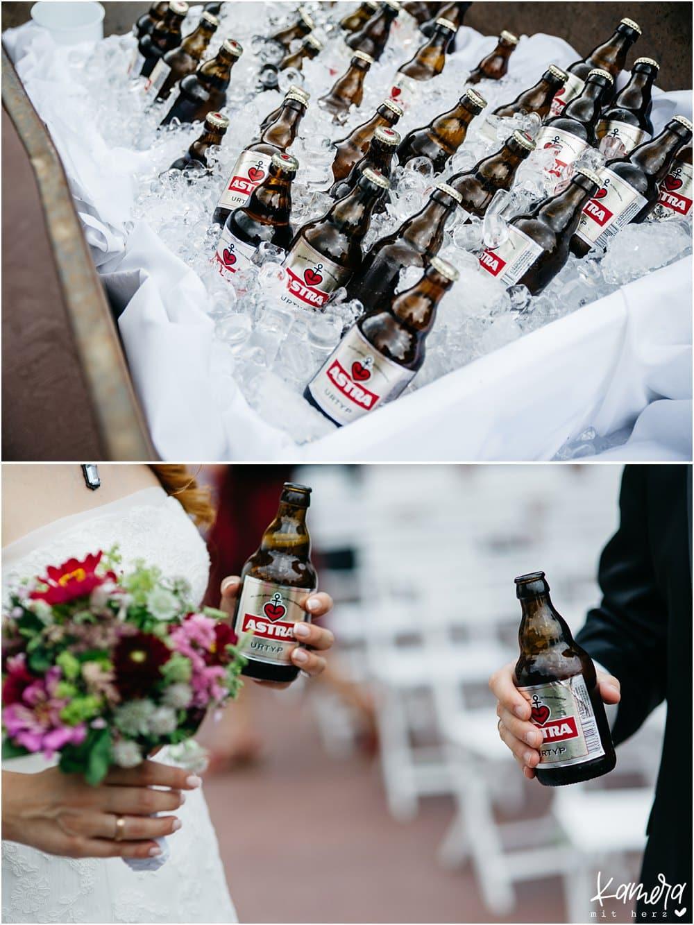 Bierempfang Hochzeit