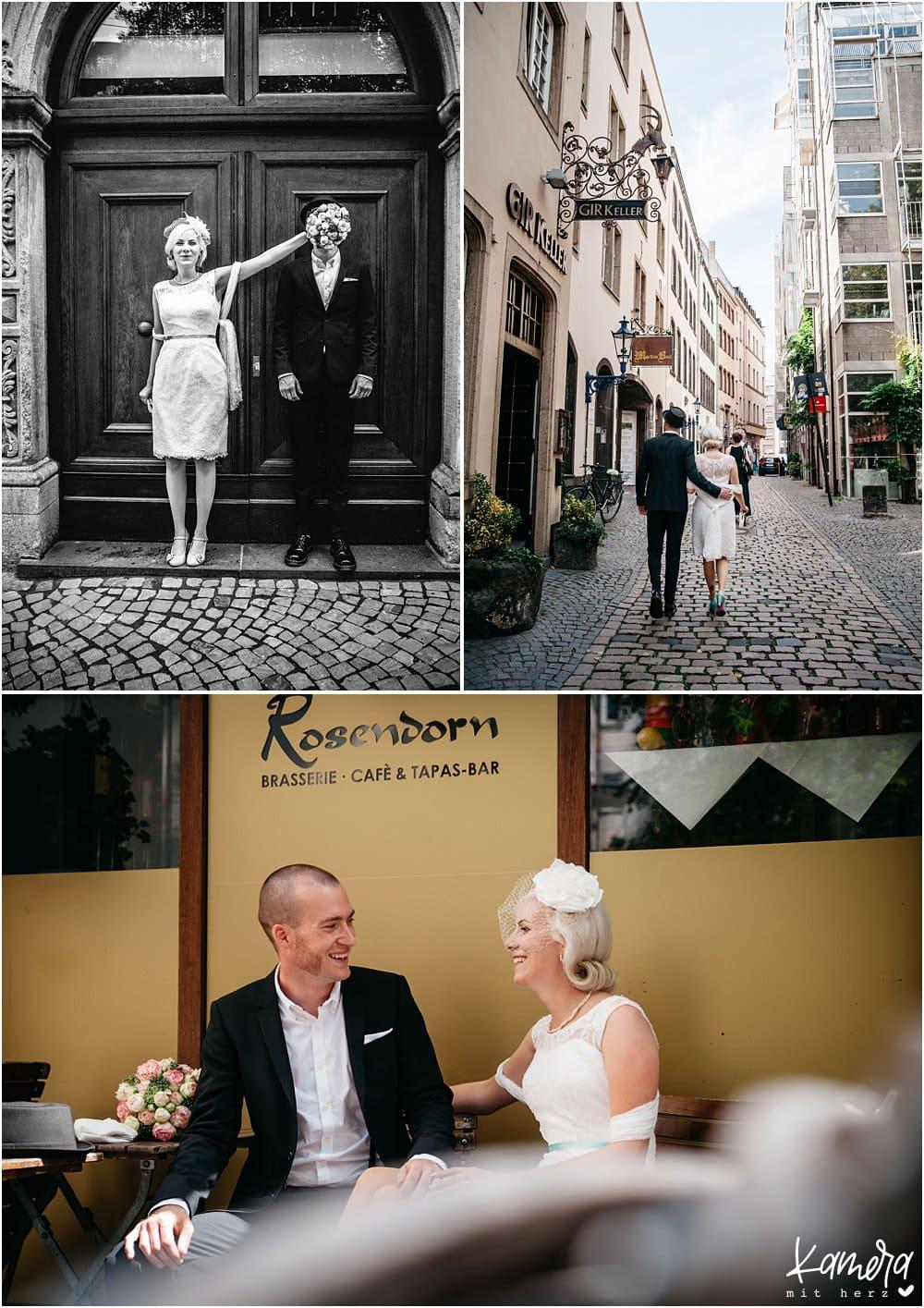 Hochzeitsfotos Kölner Altstadt
