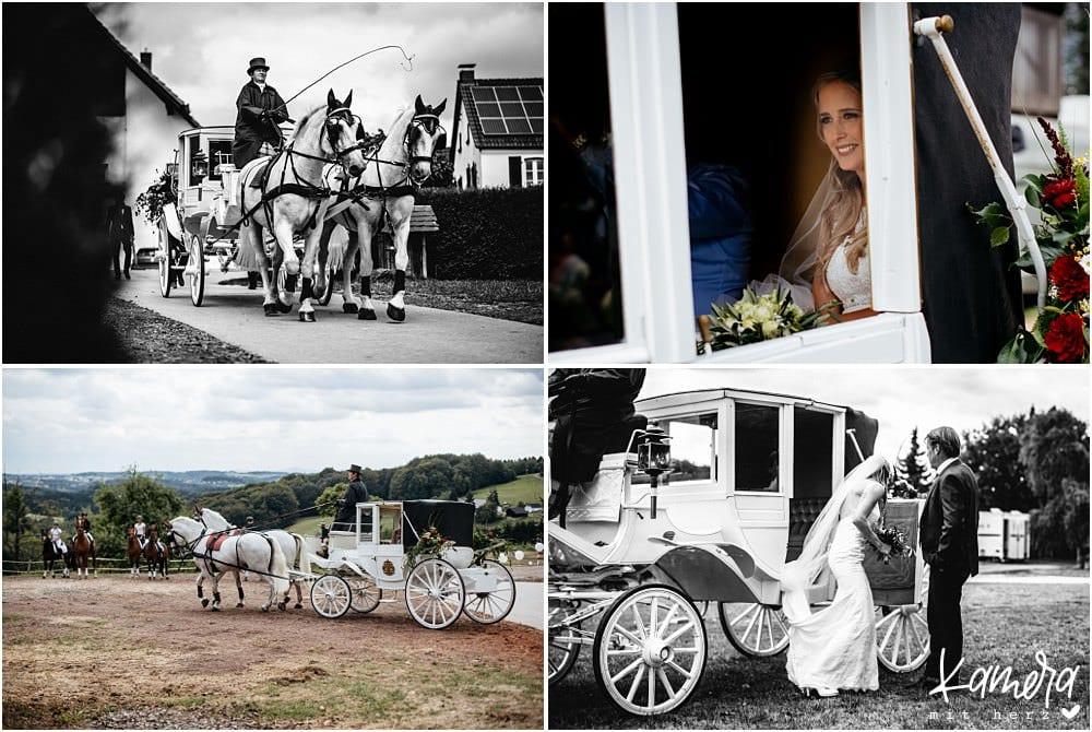Pferdekutsche Hochzeit