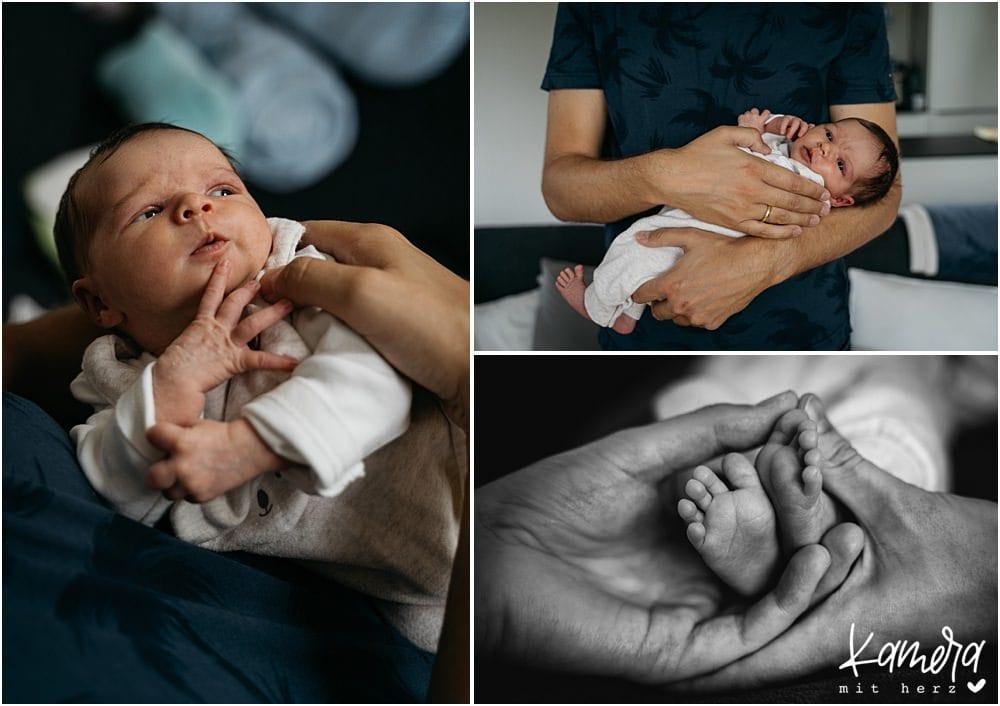 Natürliche Familienfotos mit Baby