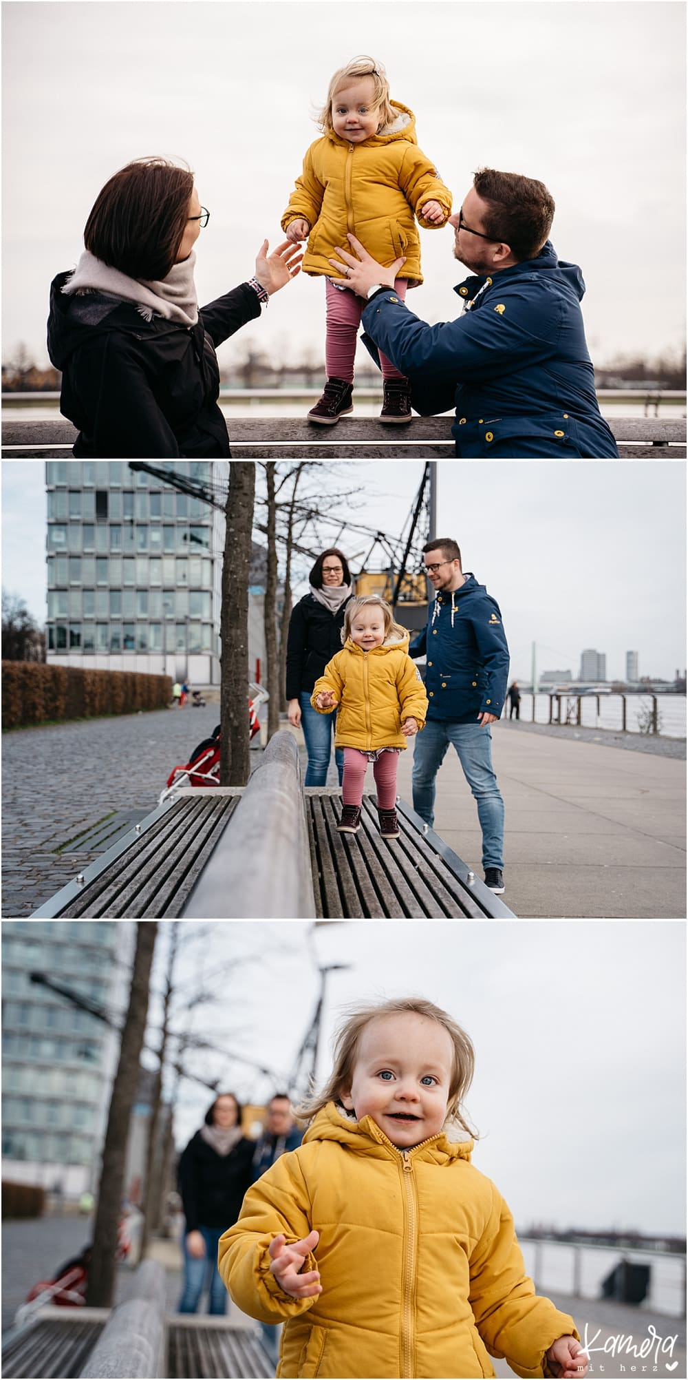 Moderne Familienfotos