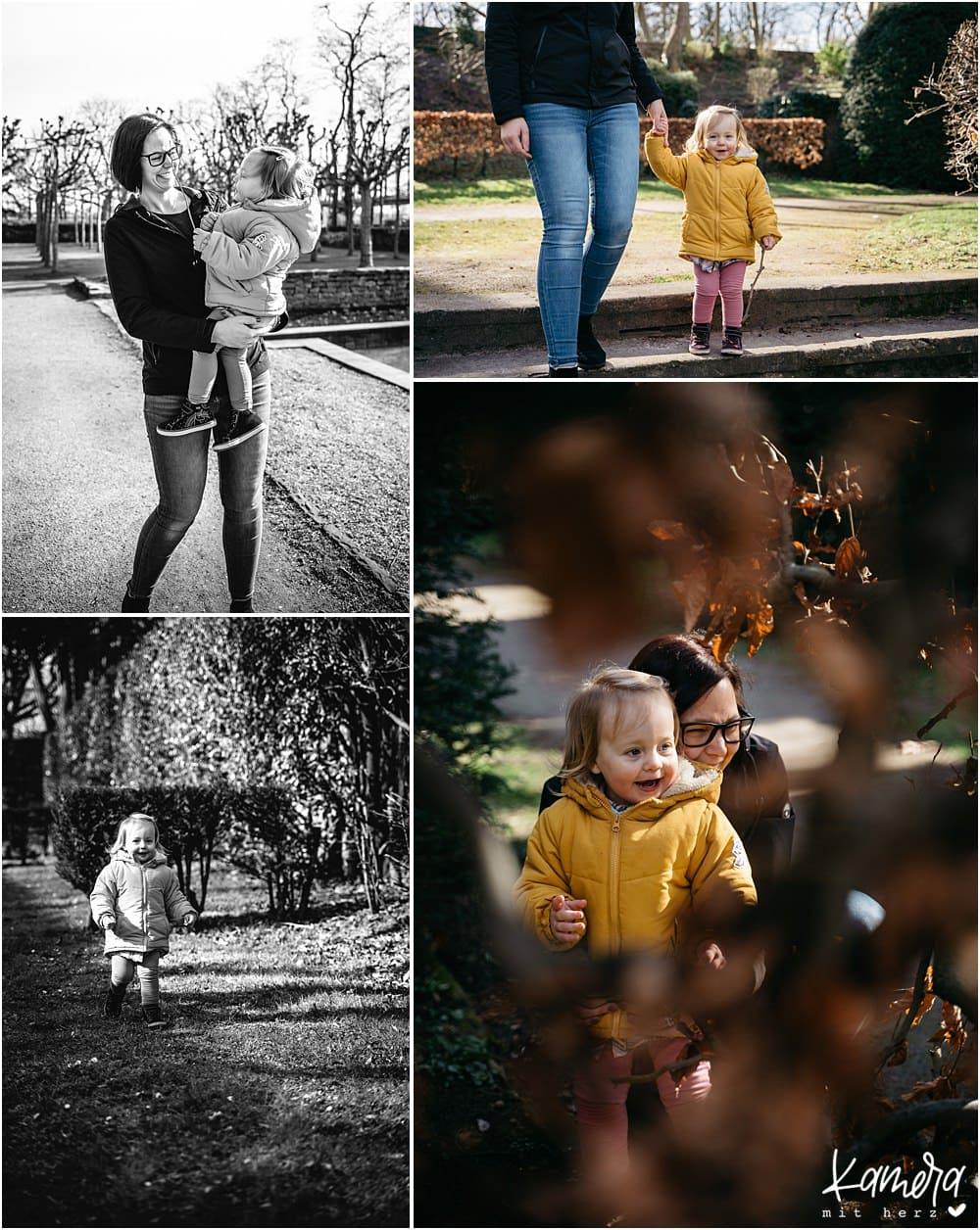 Familienfotos draußen Winter