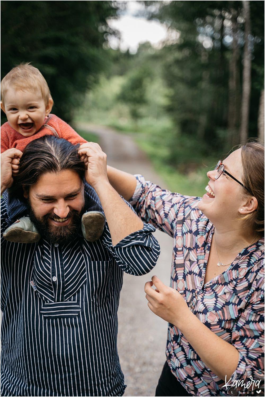 Fotoshooting mit Hund und Kind