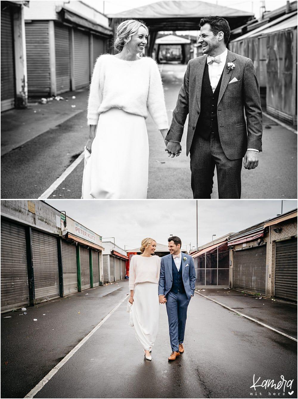 Brautpaar alte Versteigerungshalle