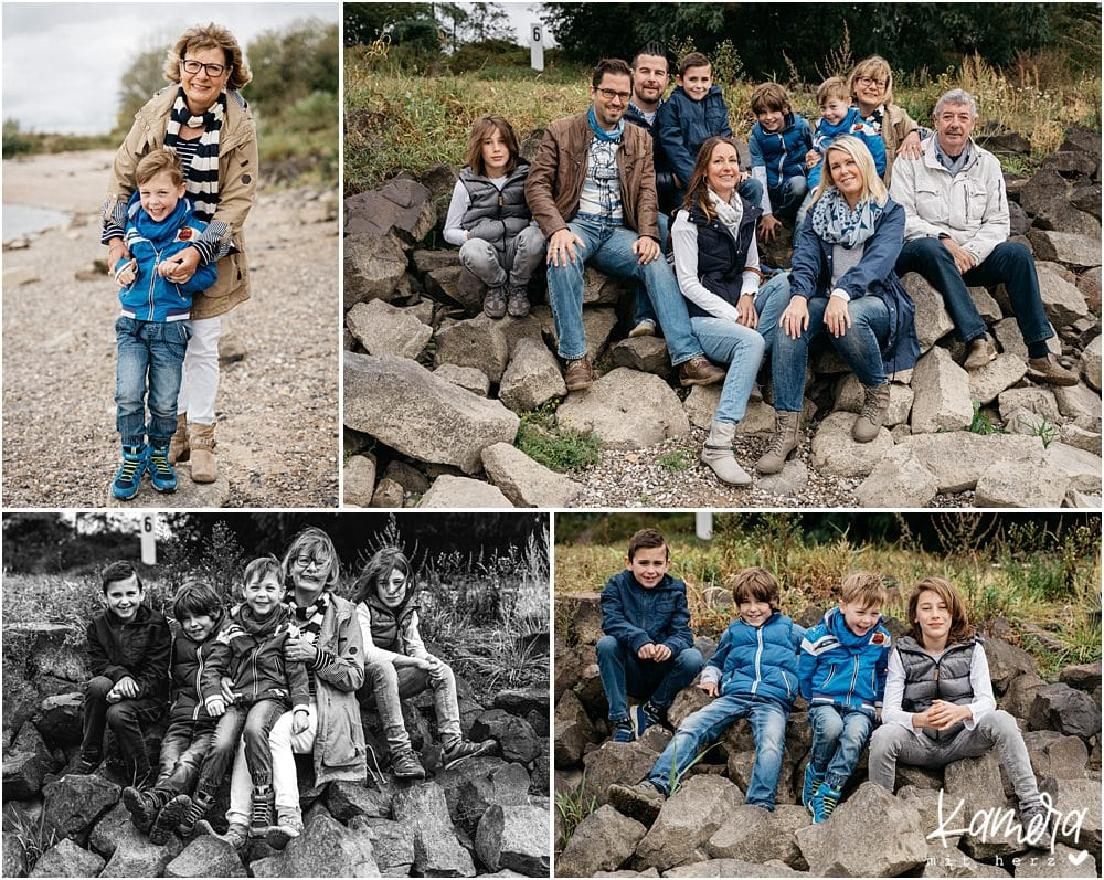 Familienshooting mit Großeltern in Köln am Rhein