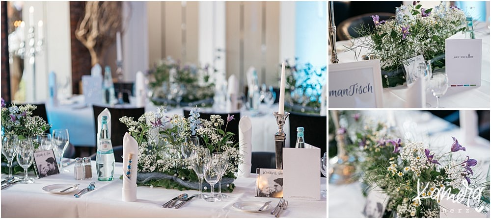 Gut Dyckhof in Meerbusch Hochzeitsdekoration