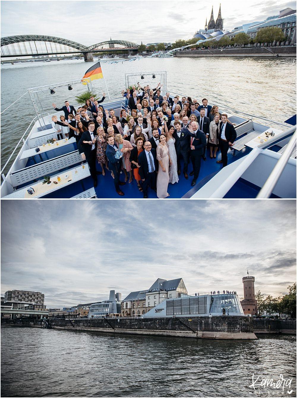Standesamtliche Trauung auf der MS Rhein Cargo - Gruppenfoto