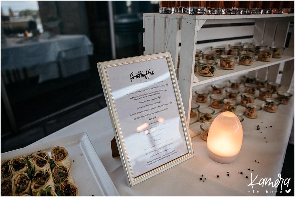 Hochzeitsfeier im Schokoladenmuseum Köln - Grillbuffet