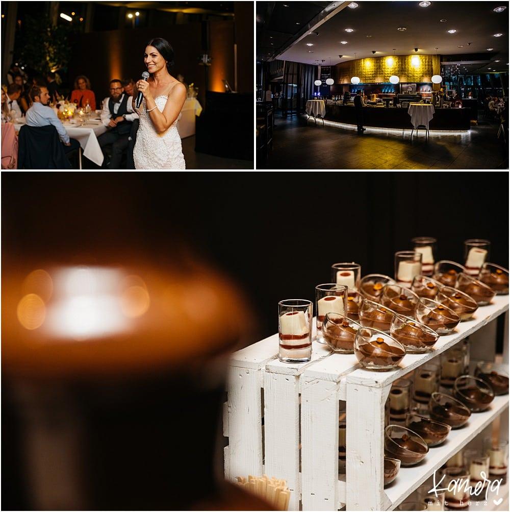 Hochzeitsfeier im Schokoladenmuseum Köln - Dessertbuffet
