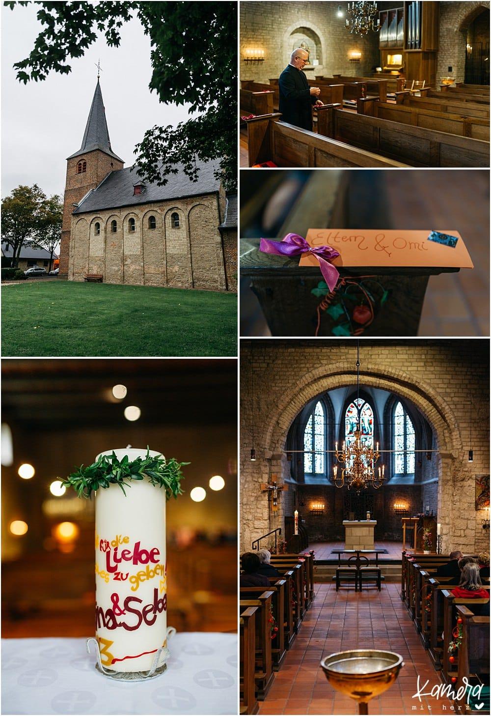 Kirchliche Trauung Kleve und Hochzeitsfeier im Hof Ten Berge - Kirche