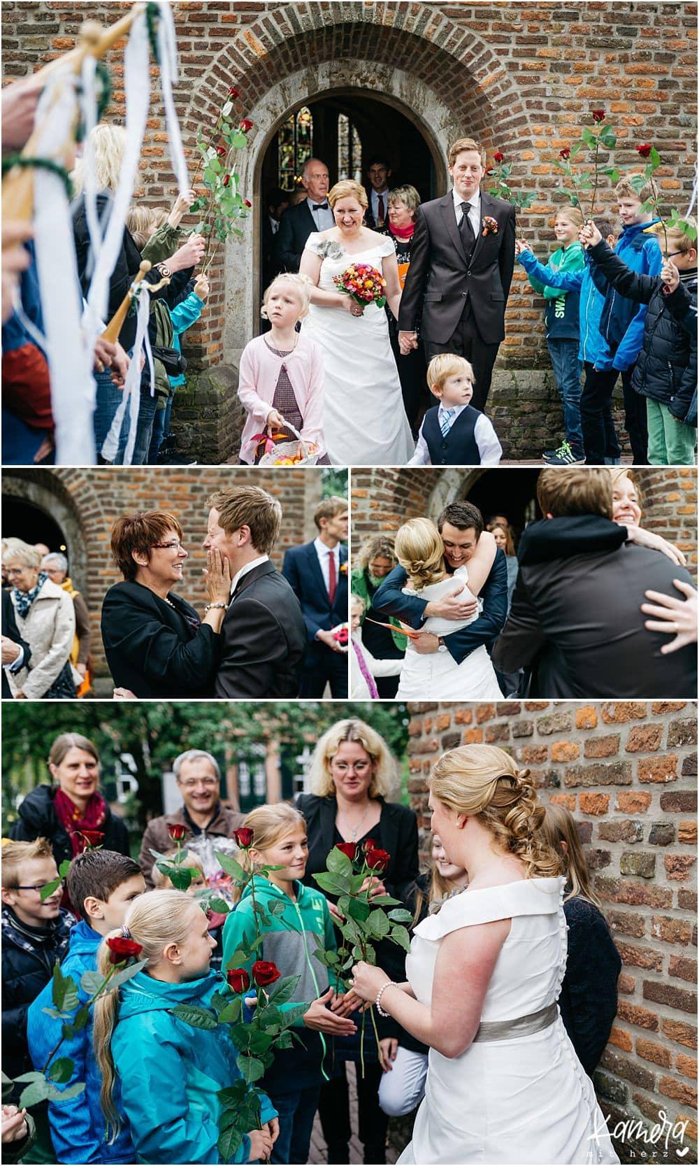 Kirchliche Trauung Kleve und Hochzeitsfeier im Hof Ten Berge - Gratulationen