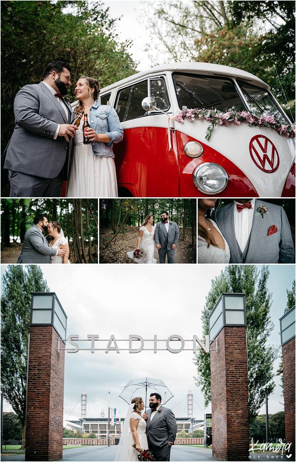 Hochzeit im Kastanienhof in Köln - Fotoshooting