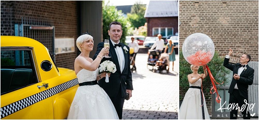 Hochzeit im Kastanienhof in Köln - Sektempfang