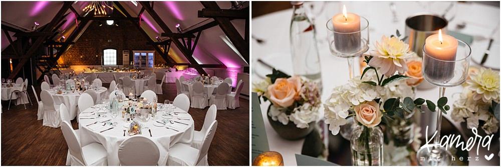 Hochzeit im Kastanienhof in Köln - Raum Marono