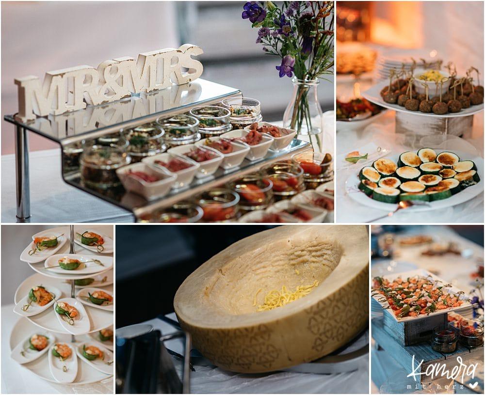 Hochzeit im Kastanienhof in Köln - Buffet und Live Cooking