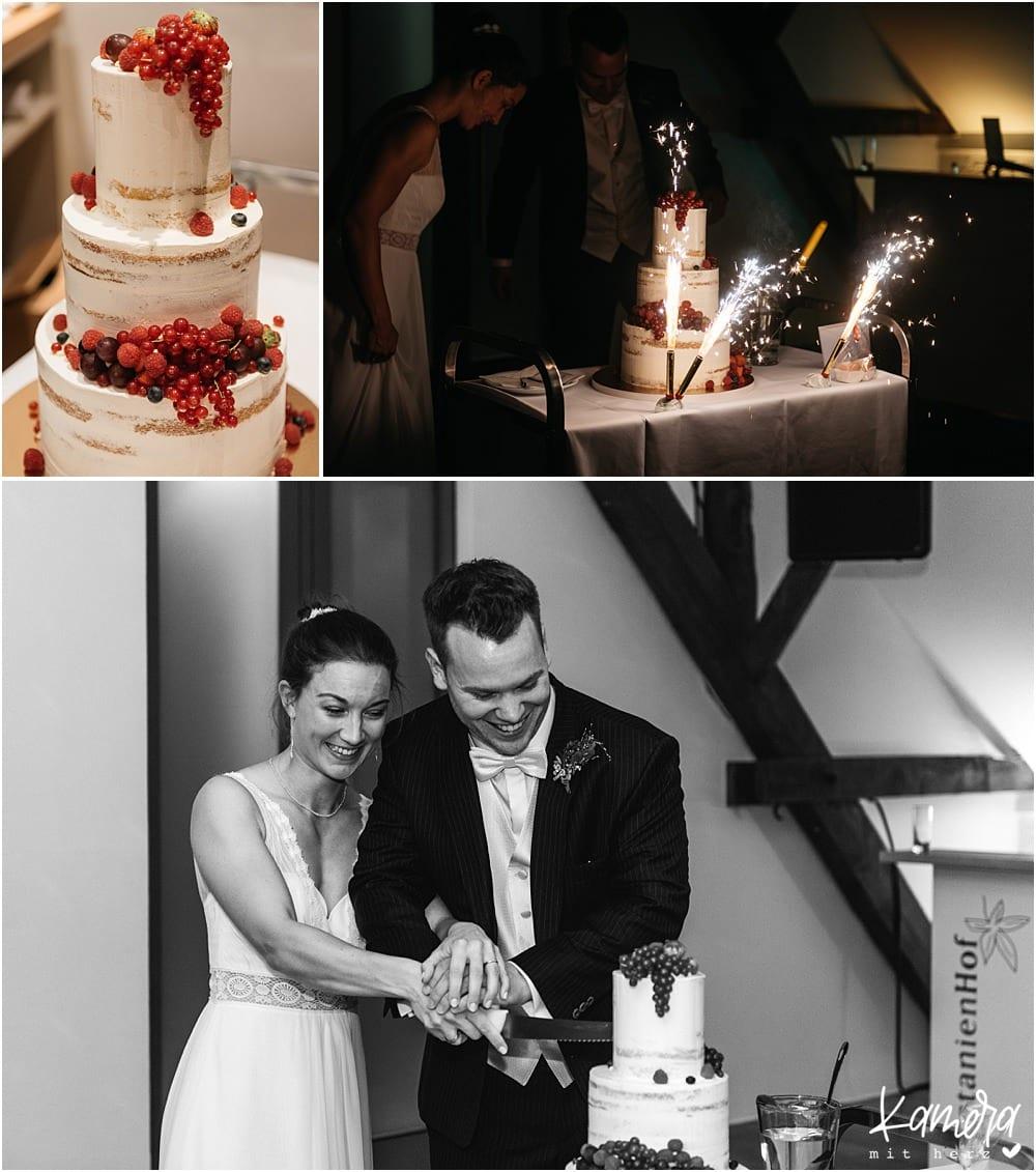Hochzeit im Kastanienhof in Köln - Hochzeitstorte