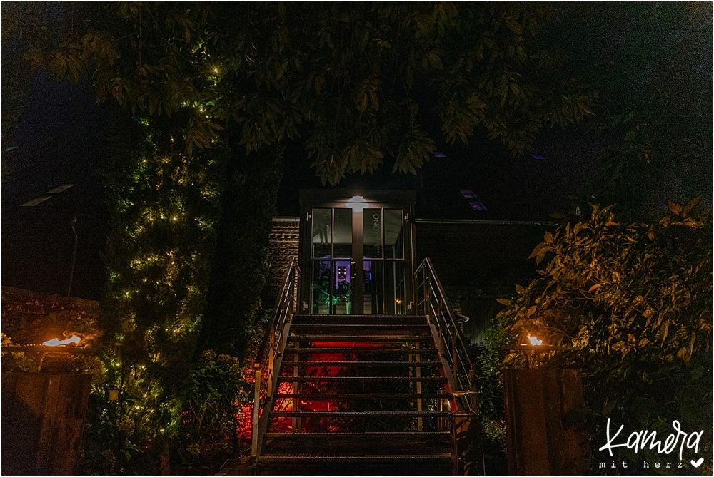 Hochzeit im Kastanienhof in Köln - Marono bei Nacht