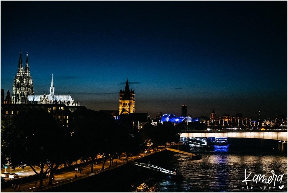 Köln Skyline Nacht
