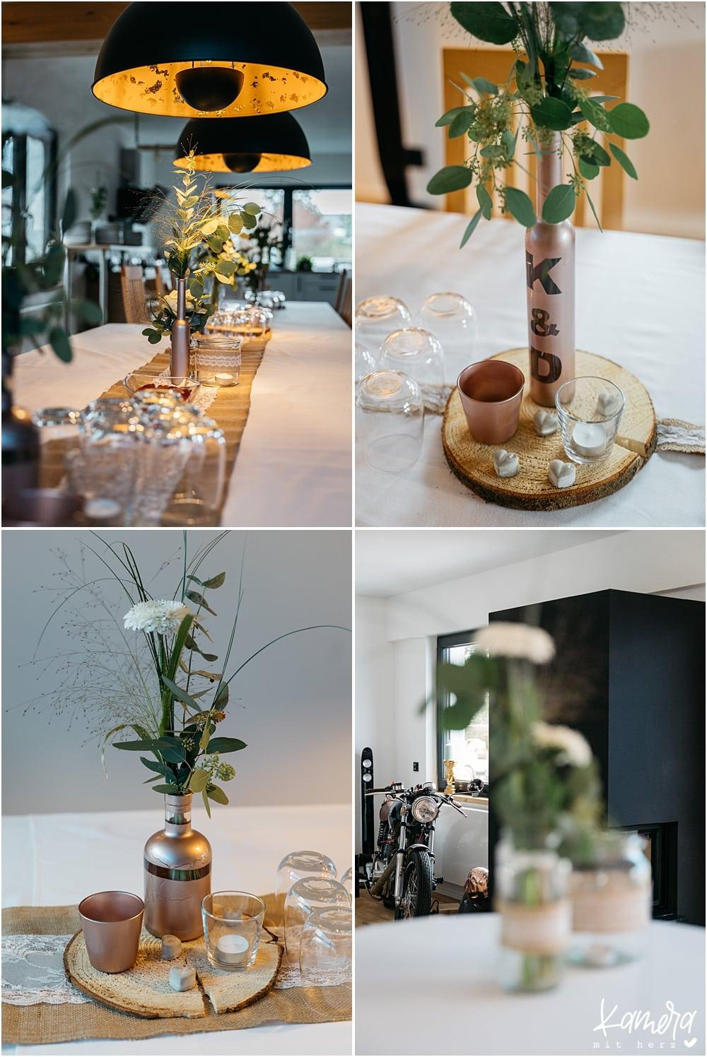 Hochzeitsfeier zuhause - Dekoration Wohnzimmer DIY