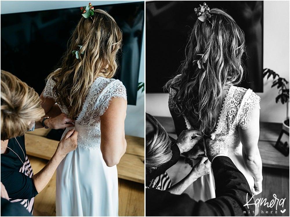 Hochzeitsfeier zuhause - Getting Ready