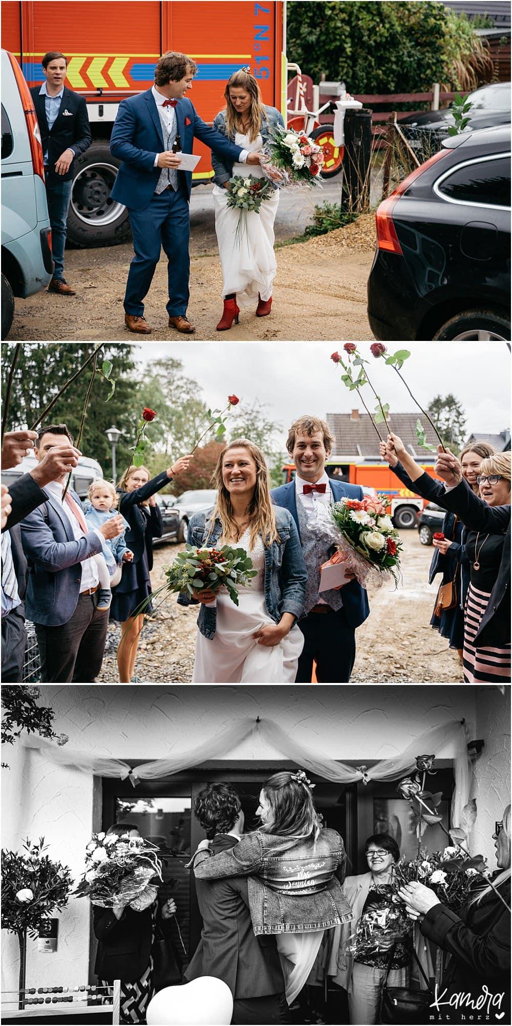 Hochzeitsfeier zuhause während Corona